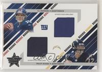Dual Rookie Jersey - Eli Manning, Philip Rivers #/500