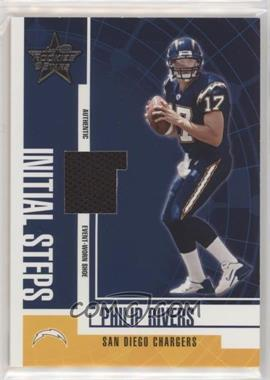 2004 Leaf Rookies & Stars - Initial Steps Materials #IS-4 - Philip Rivers /100