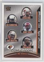 Offensive Line (Angus Reid, Ben Fairbrother, Bobby Singh, Cory Mantyka, Fred Mo…