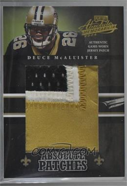 2004 Playoff Absolute Memorabilia - Absolute Patches #AP-10 - Deuce McAllister /25 [Noted]