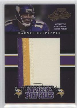 2004 Playoff Absolute Memorabilia - Absolute Patches #AP-8 - Daunte Culpepper /25