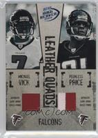 Michael Vick, Peerless Price, T.J. Duckett, Warrick Dunn /25
