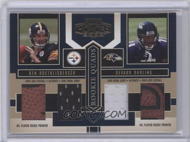 2004 Playoff Honors - Rookie Quads - Footballs/Jerseys [Memorabilia] #RQ-4 - Ben Roethlisberger, Luke McCown, Devard Darling, Kellen Winslow Jr. /25