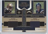 Devery Henderson, Philip Rivers, Tatum Bell, Darius Watts #/250