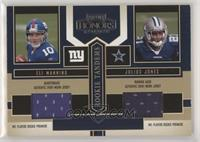 Julius Jones, Eli Manning [EX to NM]