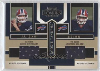 2004 Playoff Honors - Rookie Tandems - Jerseys [Memorabilia] #RT-13 - J.P. Losman, Lee Evans