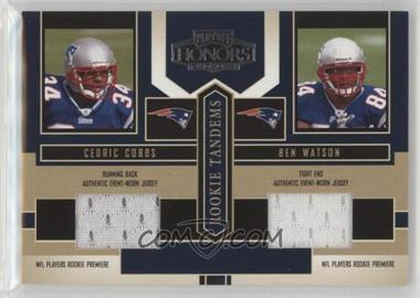 2004 Playoff Honors - Rookie Tandems - Jerseys [Memorabilia] #RT-14 - Ben Watson, Cedric Cobbs