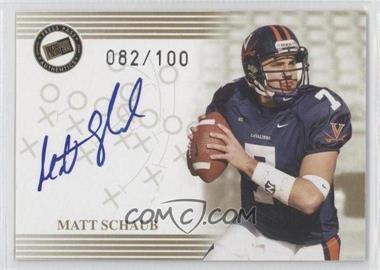 2004 Press Pass - Autographs - Gold #MASC - Matt Schaub /100