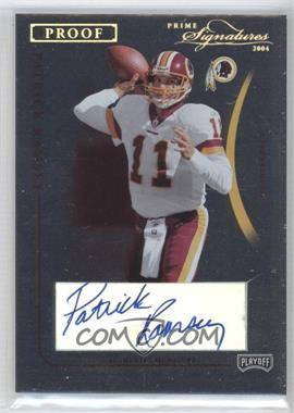 2004 Prime Signatures - [Base] - Gold Proof Signatures [Autographed] #98 - Patrick Ramsey /11