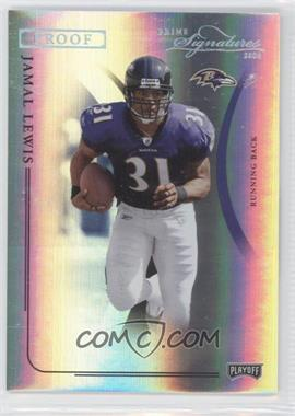 2004 Prime Signatures - [Base] - Platinum Proof #5 - Jamal Lewis /1