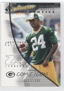 2004 SP Authentic - [Base] #129 - Rookie Authentics - Joey Thomas /1199
