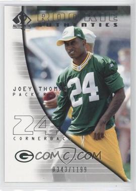 2004 SP Authentic - [Base] #129 - Rookie Authentics - Joey Thomas /1199