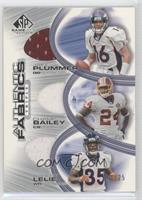 Ashley Lelie, Champ Bailey, Jake Plummer #/25