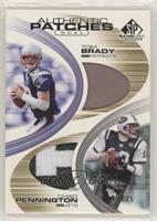 Chad Pennington, Tom Brady #/25