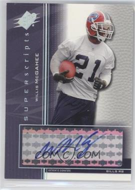 2004 SPx - Super Scripts - [Autographed] #SS-WM - Willis McGahee