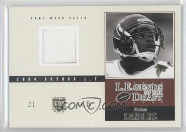 2004 Skybox L.E. - L.E.gends of the Draft Jerseys - Silver #LD-DS - Deion Sanders /89