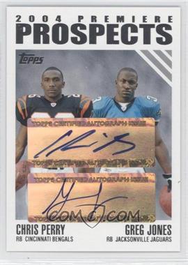 2004 Topps - 2004 Premiere Prospects Dual Autographs #PPD-PJ - Greg Jones /50