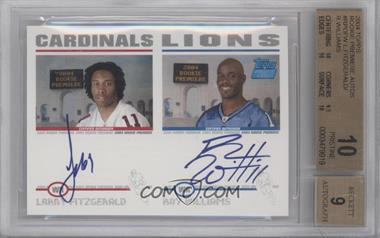 2004 Topps - Rookie Premiere Certified Autographs #RP-FW - Larry Fitzgerald, Roy Williams [BGS10]