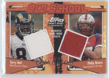 2004 Topps Draft Picks & Prospects - Old School Dual Relics #OS-HR - Torry Holt, Philip Rivers /199