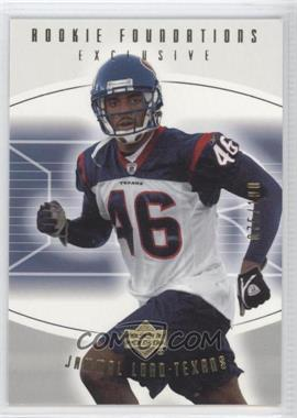 2004 Upper Deck Foundations - [Base] - Exclusive Gold #126 - Jammal Lord /100