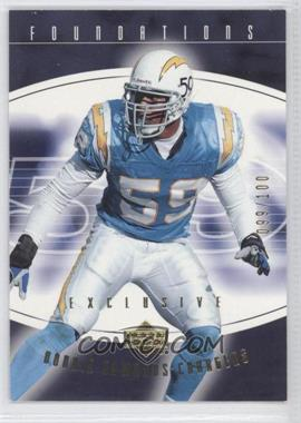 2004 Upper Deck Foundations - [Base] - Exclusive Gold #82 - Donnie Edwards /100