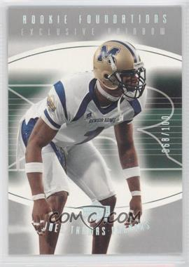 2004 Upper Deck Foundations - [Base] - Exclusive Rainbow Silver #198 - Joey Thomas /100