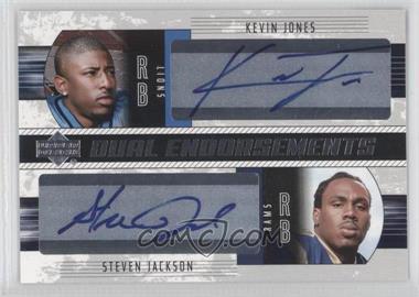 2004 Upper Deck Foundations - Dual Endorsments #DE-JJ - Kevin Jones, Steven Jackson