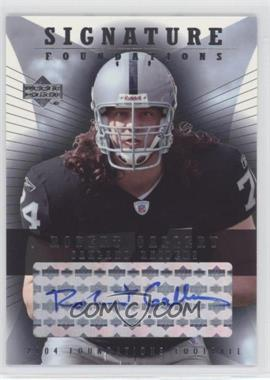 2004 Upper Deck Foundations - Signature Foundations - Autographs [Autographed] #SF-RG - Robert Gallery