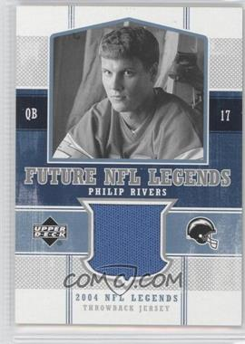 2004 Upper Deck NFL Legends - Future NFL Legends Throwbacks #FLT-PR - Philip Rivers