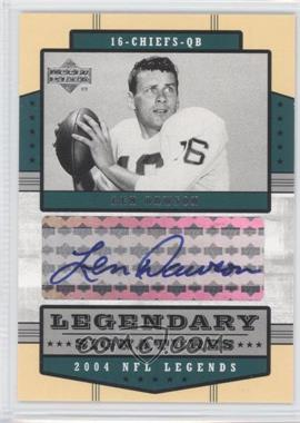 2004 Upper Deck NFL Legends - Legendary Signatures #LS-LD - Len Dawson