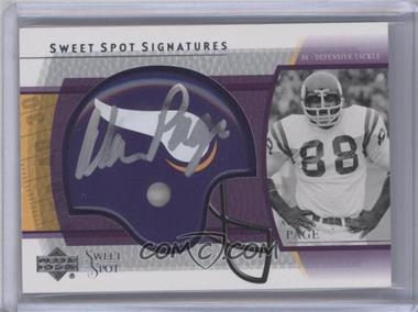 2004 Upper Deck Sweet Spot - Signatures #SS-AP - Alan Page