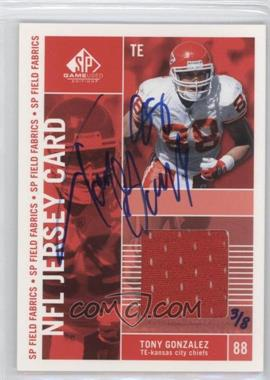 2004 Upper Deck Ultimate Collection - Buyback Autographs #TG - Tony Gonzalez /8