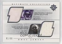 Randy Moss, Jerry Rice #/99
