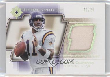2004 Upper Deck Ultimate Collection - Ultimate Patch - Gold #UP-DC - Daunte Culpepper /25