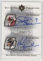 Joe Theismann, Mark Brunell /50