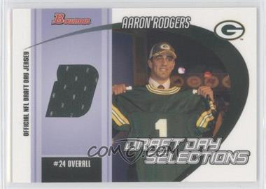 2005 Bowman - Draft Day Selections Jerseys #DJ-ARO - Aaron Rodgers