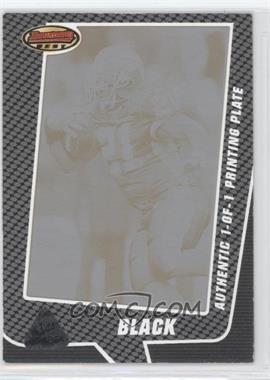2005 Bowman's Best - [Base] - Printing Plate Black Framed #16 - Willis McGahee /1