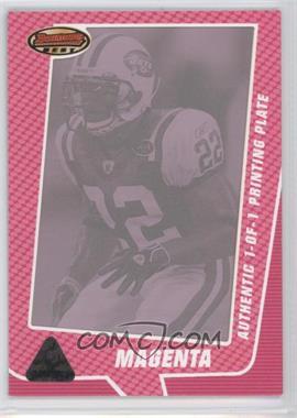 2005 Bowman's Best - [Base] - Printing Plate Magenta Framed #60 - Justin Miller /1