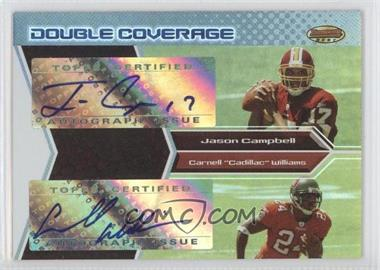 2005 Bowman's Best - Double Coverage Autographs #DCA-CW - Jason Campbell, Cadillac Williams /50