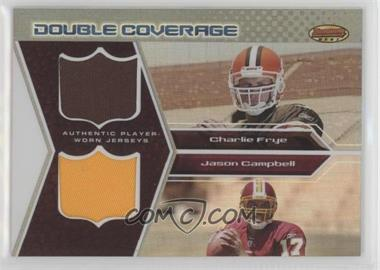 2005 Bowman's Best - Double Coverage Jerseys #DCR-FC - Charlie Frye, Jason Campbell /50