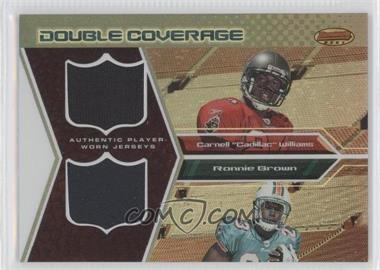 2005 Bowman's Best - Double Coverage Jerseys #DCR-WB - Cadillac Williams, Ronnie Brown /50