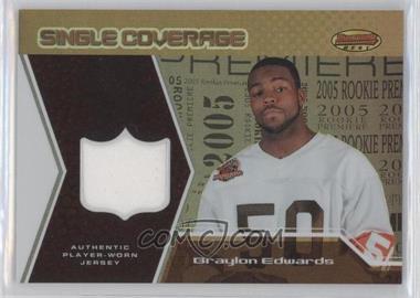 2005 Bowman's Best - Single Coverage Jerseys #SCR-BE - Braylon Edwards /50