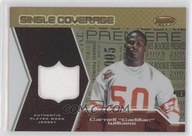 2005 Bowman's Best - Single Coverage Jerseys #SCR-CW - Cadillac Williams /50