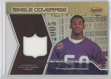 2005 Bowman's Best - Single Coverage Jerseys #SCR-TW - Troy Williamson /50