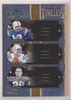 Peyton Manning, Don Shula, Johnny Unitas #/250