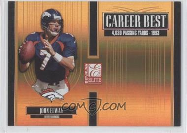 2005 Donruss Elite - Career Best - Gold #CB-26 - John Elway /500