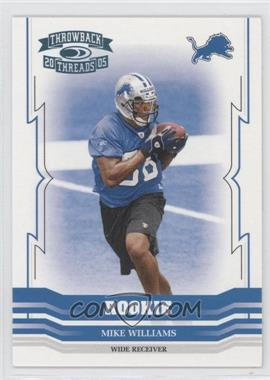2005 Donruss Throwback Threads - [Base] - Platinum Century Proof #195 - Mike Williams