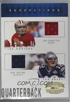Joe Montana, Tom Brady [Noted] #/50