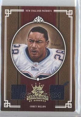 2005 Donruss Throwback Threads - Gridiron Kings - Dual Material Prime [Memorabilia] #GK-8 - Corey Dillon /25