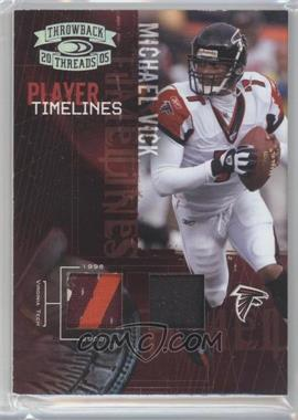 2005 Donruss Throwback Threads - Player Timelines - Dual Materials Prime [Memorabilia] #PT-19 - Michael Vick /25